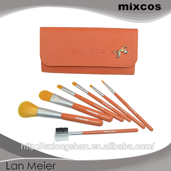 Bright colorful attractive price makeup brush,customized wholesale synthetic hair naked brush set
