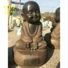 Outdoor Garden Home Decor Stone Sculpture New Product Life Size Black Marble Little Monk Statue