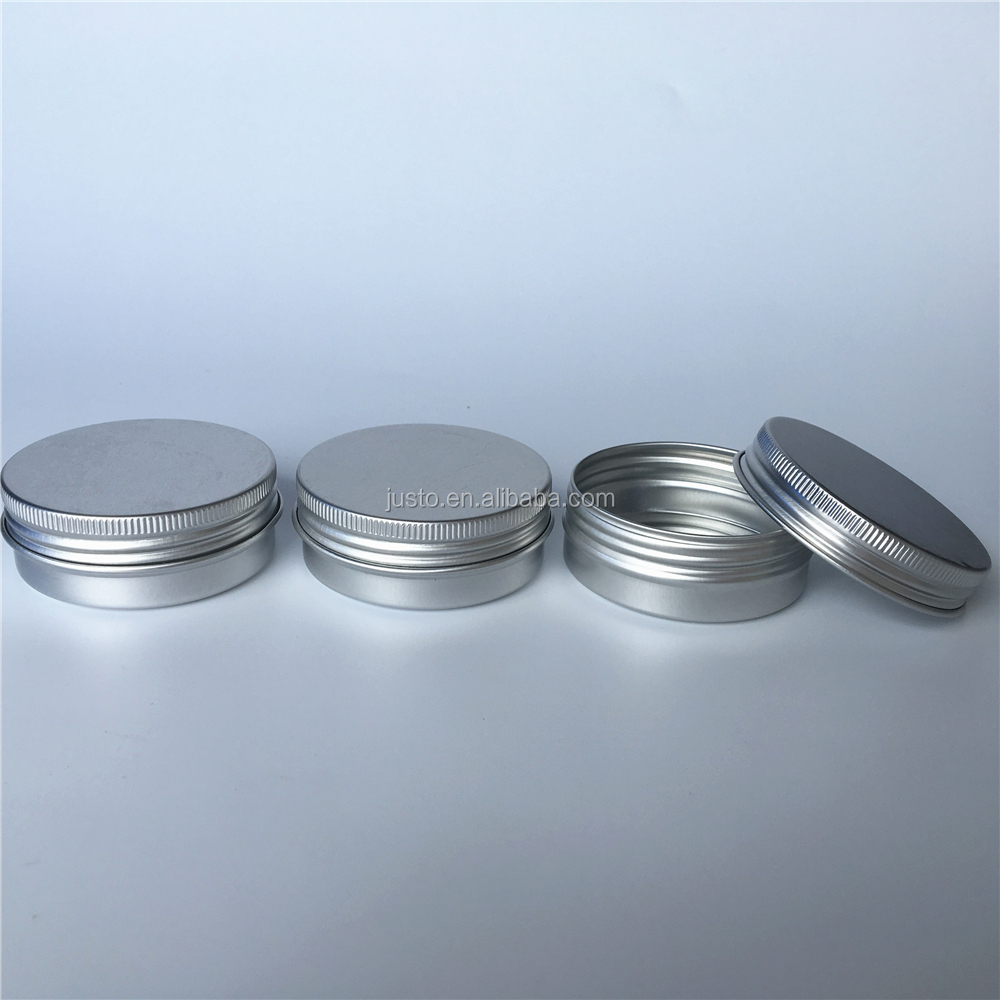 40ml Round Silver Aluminum Metal Tin Storage Jar Containers with Secure Screw Lids for Cosmetic, Lip Balm and DIY Salves