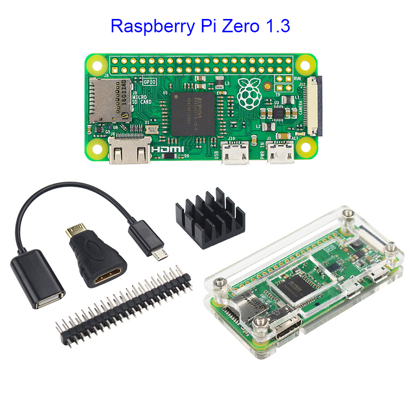 Raspberry Pi Zero WH Development Kit D with USB HUB HAT built-in WiFi 512MB RAM