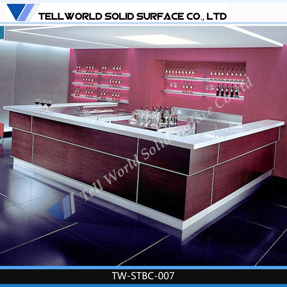 Solid Surface Furniture Commercial Wine Bar Counters