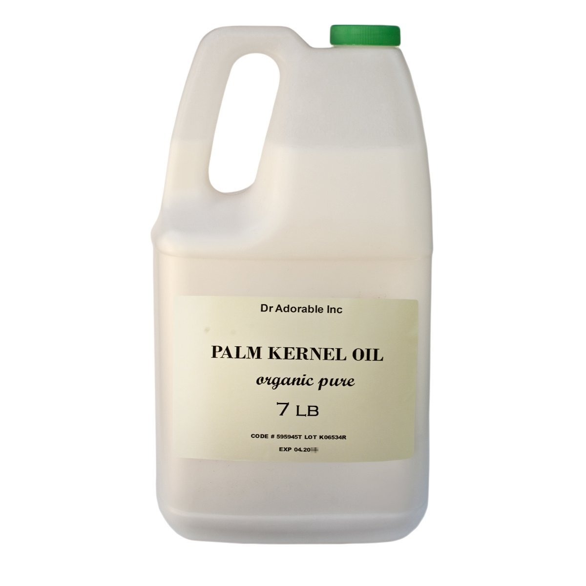 Palm Kernel Oil Pure Cold Pressed Organic 128 Oz / 7 Lb / One Gallone