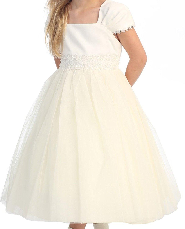 White Flower Girl Dresses Size 2t