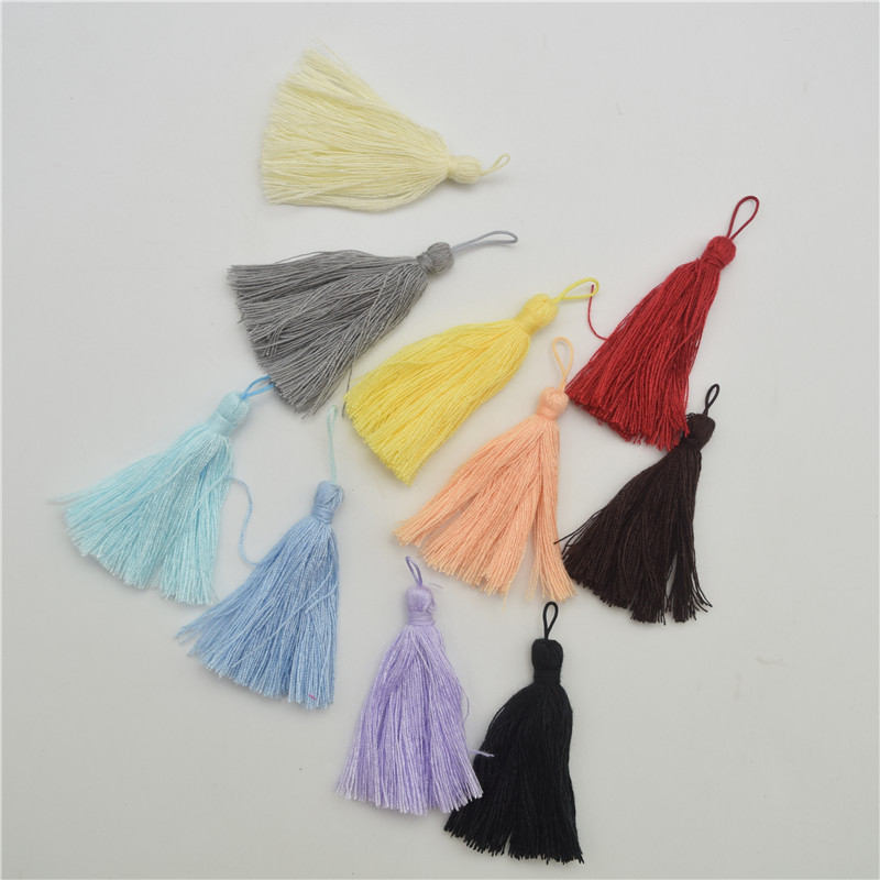 Cotton Thread Tassel Necklace Earring Pendant Jewelry Making DIY Crafts Length:6.5cm