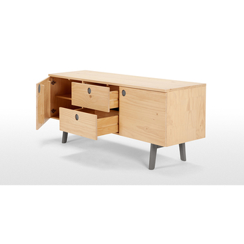 Tall Design Solid Pine Wood Tv Unit Stand