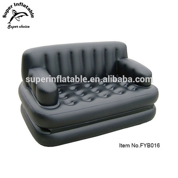 Inflatable 5 In 1 Air Sofa Chair Lounge Camping Mattress Bed