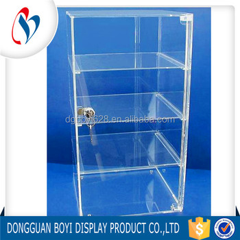 Dongguan Factory 4 Tier Cabinet Shelf Extra Large Acrylic Plastic Storage  Cabinet