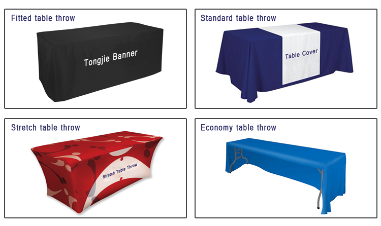 Table cloth cover, logo printed table cloth banner for promotion
