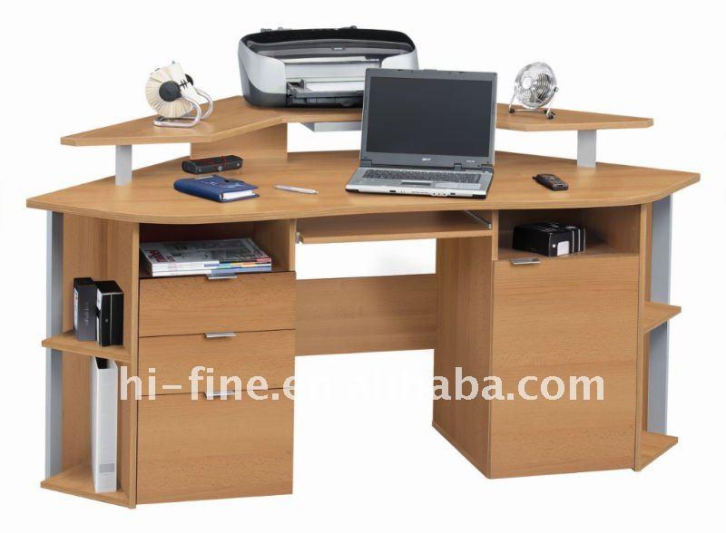 Madeira mesa de canto do computador mesas de madeira id do - Mesa escritorio esquina ...