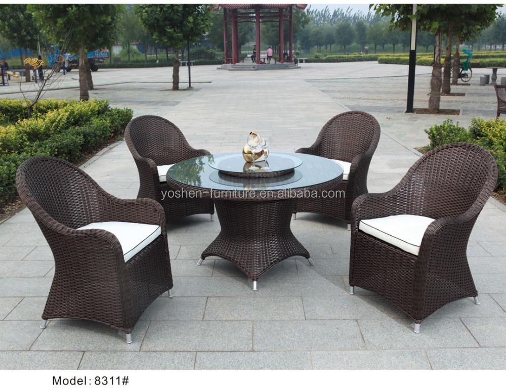5 pc set da pranzo rattan esterno mobili da giardino di