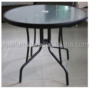 Rond En Acier Inoxydable Table En Plein Air Table De Jardin Avec ...