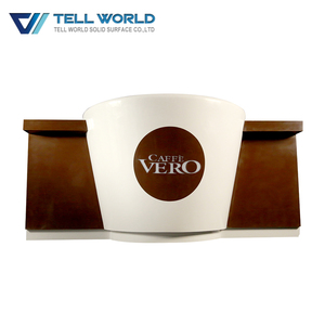 Acrylic solid surface bar counter light up modern fancy led with logo coffee bar counter