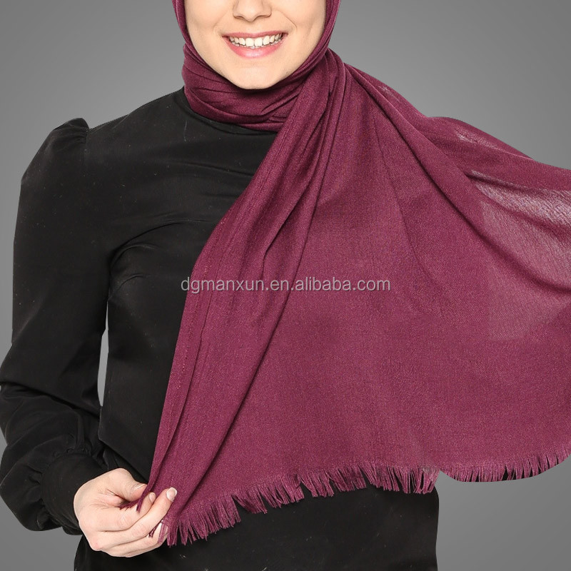 Wholesale Stylish linen Women Muslim Shawl Hijab Scarf