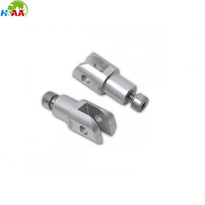 High quality cnc milling carbon steel touring footpeg adapters as customer design