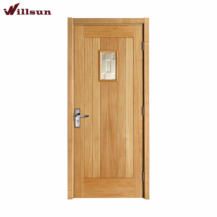 Burlywood frosted glass bathroom door solid wood door for Solid glass shower doors