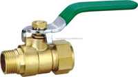 male to female Brass union Ball Valve supplier with long handle