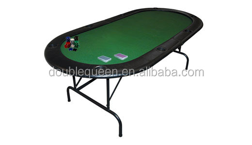 MDF poker table with folding iron legs