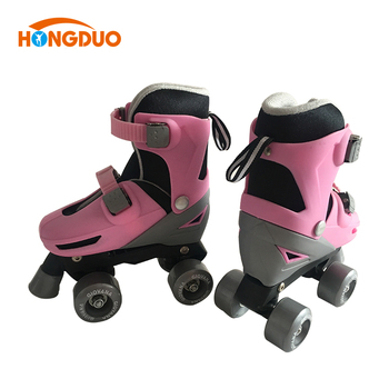 Adjustable 4 wheel retractable roller blade skate shoes