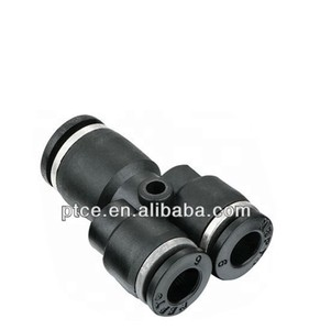 hydraulic hose fittings/Reducer Y /PW Series of plastic quick connecting Tube Fittings , Tube(Metric)4 6 8 10 12 16
