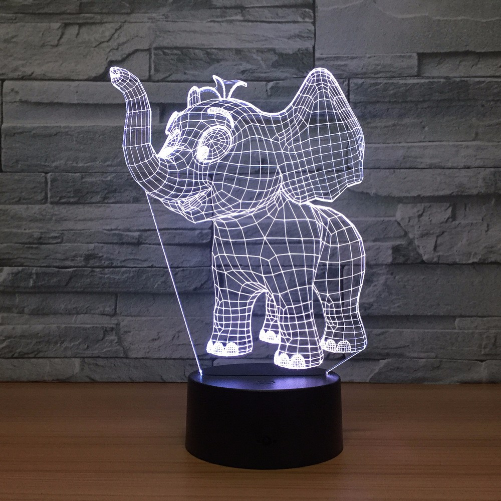 Small Elephant Acrylic 3d Lights Colorful Led Night Light Usb Plug In Creative Gifts Wholesale Drop Shipping Kids Besgift Buy Elephant Acrylic 3d Lights Colorful Led Night Colorful Led Night Light Product On