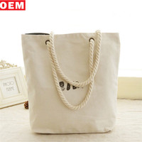 Wholesale Korean Fashion Shopping Bag Custom Canvas Tote Bags No Minimum