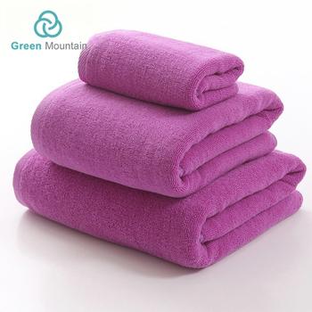 Green Mountain Y Beach Microfiber Fabric Yard For Bath Hajj Towel