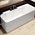 GM-8018 Resin stone bathtubs factory direct acrylic solid surface free standing bathtub install facet 168*68*55cm