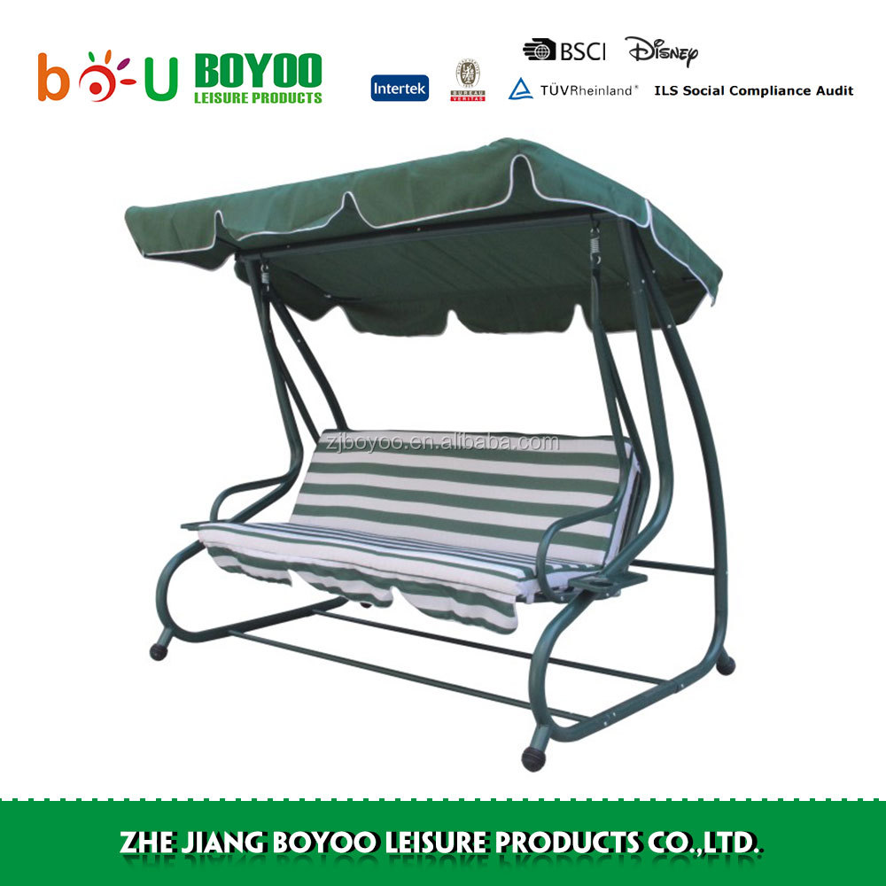 Outdoor Mental 2 Seater Garden Swing Chair With Cushion Canopy Buy