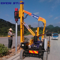 small pile driving machine soil drilling machine