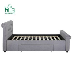 Free Sample Upholster King Fabric Bed With Drawers