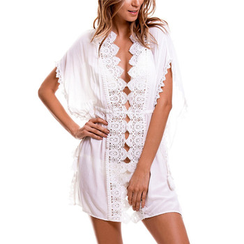 Cover up Swimwear Women Cover ups Beach Dress Tunic Tassel Crochet Bathing Suit Lace Cover ups Beachwear