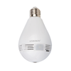360 degree fisheye hidden security wifi ip light bulb camera