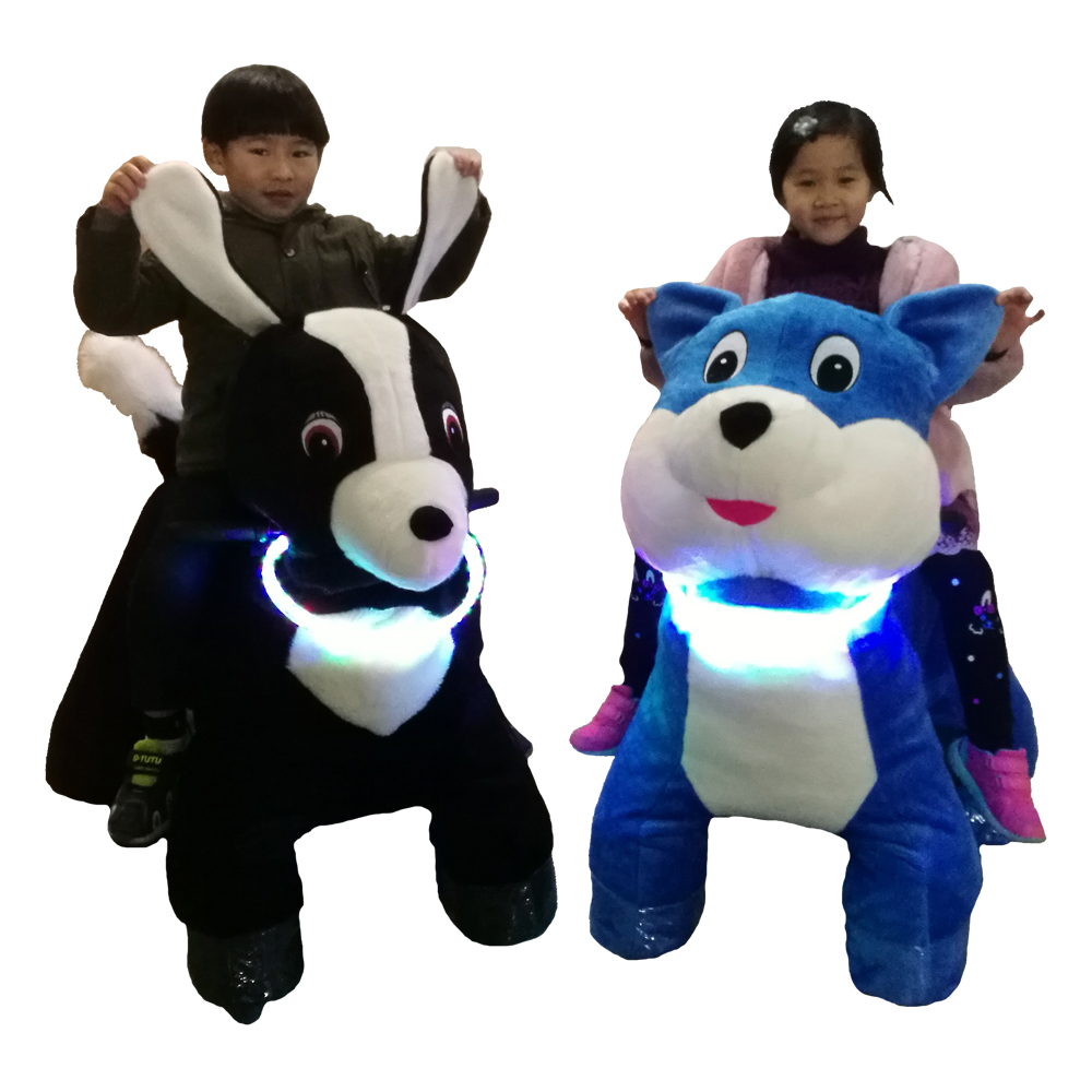 LULU kids ride on toy <strong>electric</strong> <strong>animal</strong> scooters with pedal