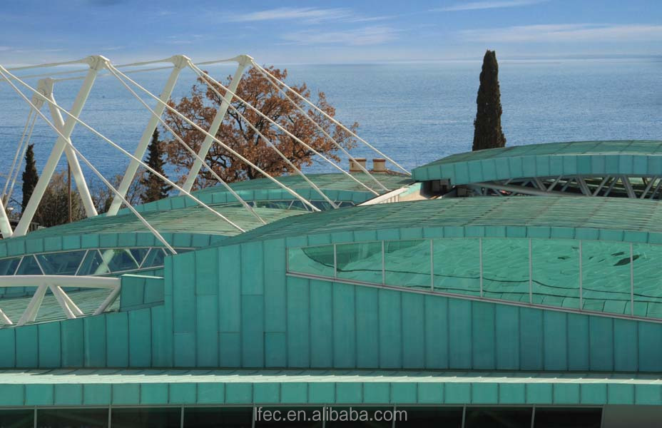 Outdoor Big Size Clear Glass Roof Steel Frame Swimming Pool Cover
