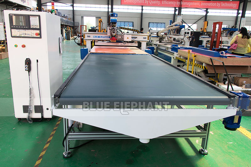 Factory supply wood panel furniture cabinet best price cnc nesting machine with auto loading and unloading system