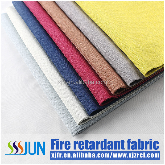 100% polyester eternal flame retardant blackout window curtain XJC 2002
