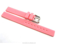 Textured Silicone Watch Strap with Deployment Clasp