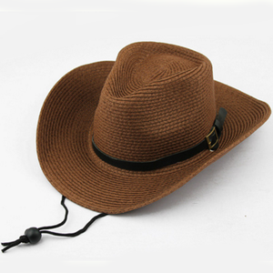 high quality fashion cheap men straw cowboy hat