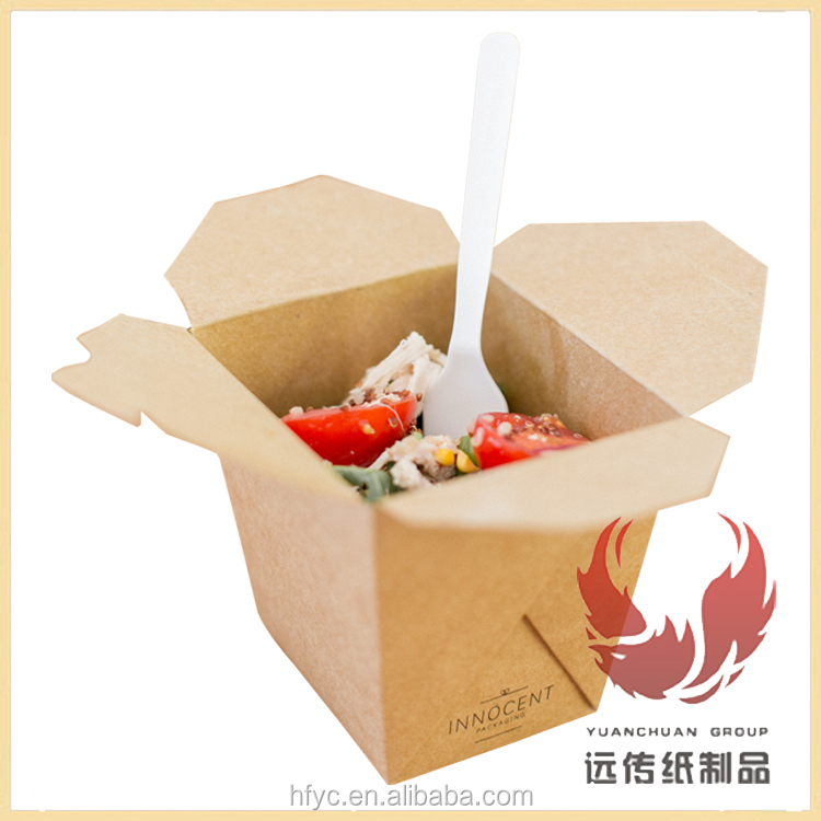Fast Food Pasta Salad Noodle Box Disposable Take Away Paper ...