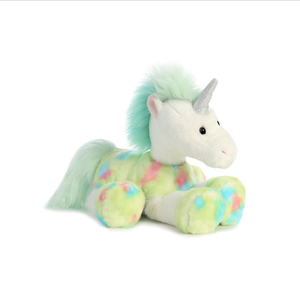 High quality custom big eyes plush unicorn toy colorful unicorn stuffed toy