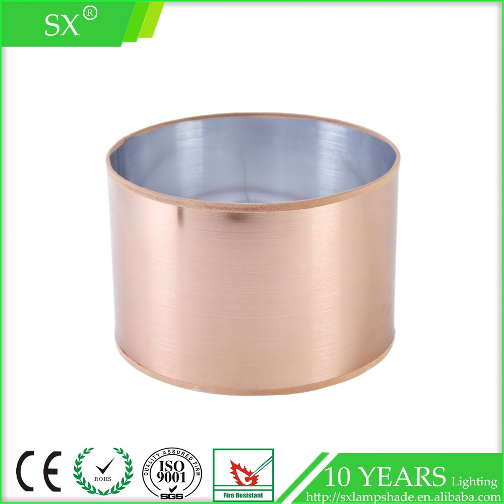 Round Copper Wire Drawing Pvc Lamp Shade