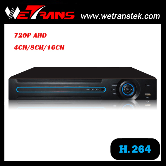 WETRANS AVR 3404N hot sell 2016 new products 4CH 720p real time CCTV AHD dvr h 264