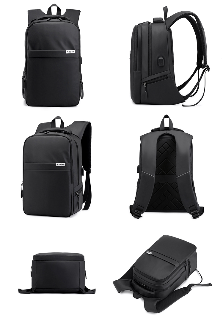 Fashion Waterproof Slim back pack School Travel Computer bag Smart Business 15.6 inch Laptop Bags USB Backpack