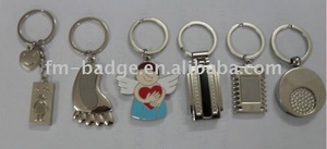 OEM factory directly custom design top hot selling keychain, custom logo key ring, angel key finder, different shape key holder