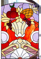 2014 stained glass tiffany window for wholesale or customized design