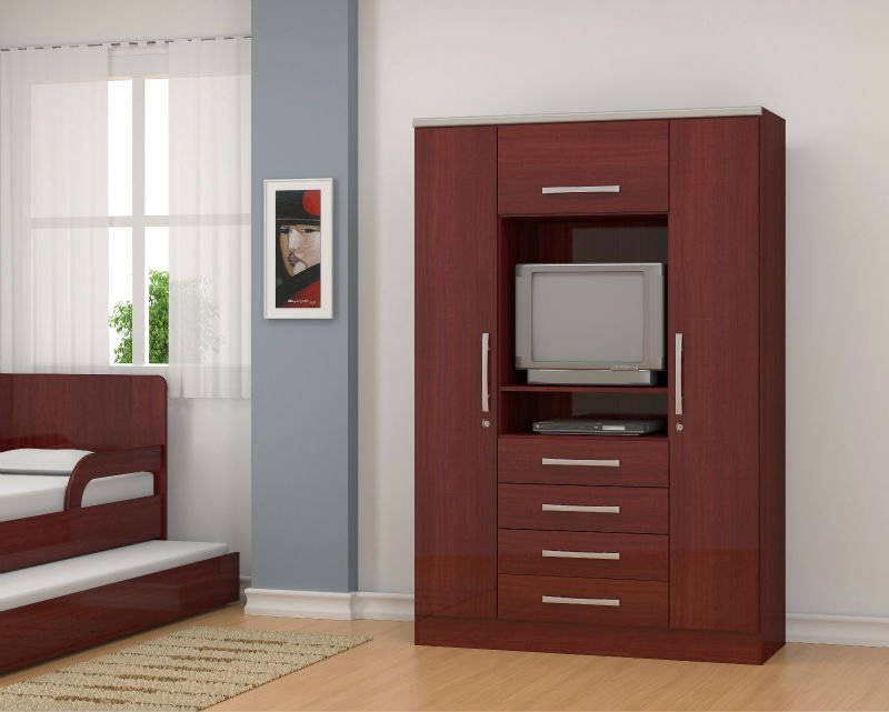 Wardrobe With Tv Stand Ref 254