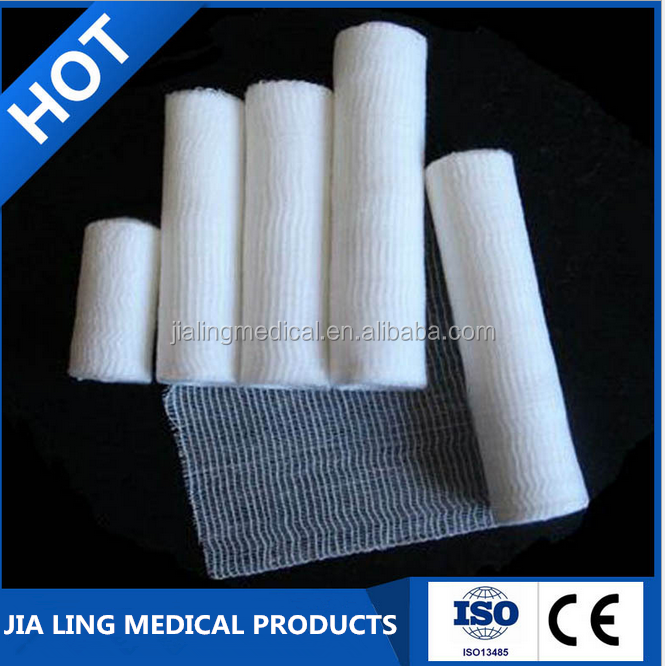 Pure Cotton Bleached Surgical Gauze Bandage Made in Xiantao Hubei