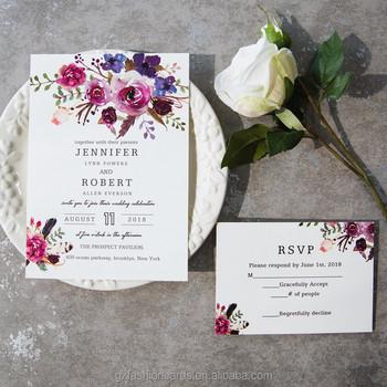 watercolor burgundy wedding invitations buy watercolor burgundy