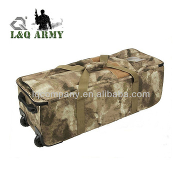 Military Tactical Mission Rolling Duffle Bag Heavy Duty Trolley