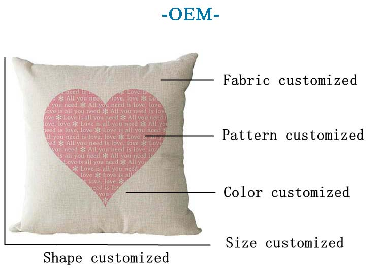 High-quality custom printing love cushion cover, decorative pillow cover wholesale cushion covers